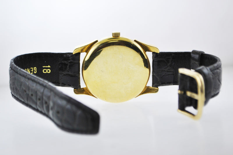 1940's Vacheron Constantin Extremely Rare Vintage Wristwatch in 18 Karat Yellow Gold on Leather Strap - $30K VALUE