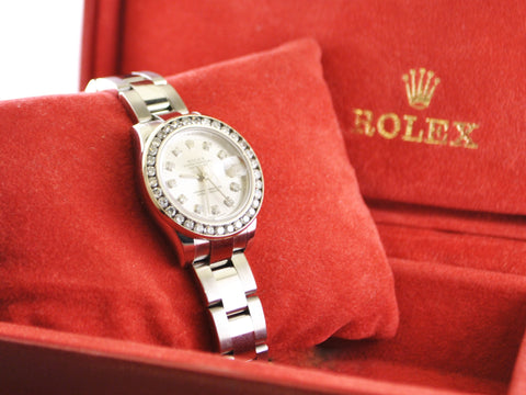 Rolex Datejust Lady's Wristwatch Aftermarket Diamond Bezel and Dial in Stainless Steel - $25K VALUE