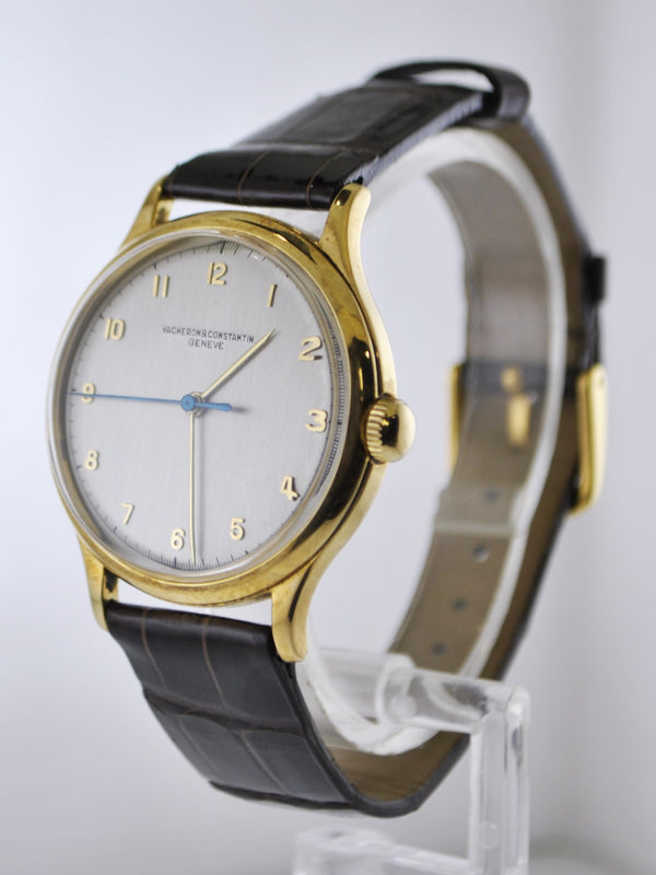 1950's Vacheron Constantin Classic Wristwatch in 18 Karat Yellow Gold on Handmade Croco Leather Strap - $35K VALUE