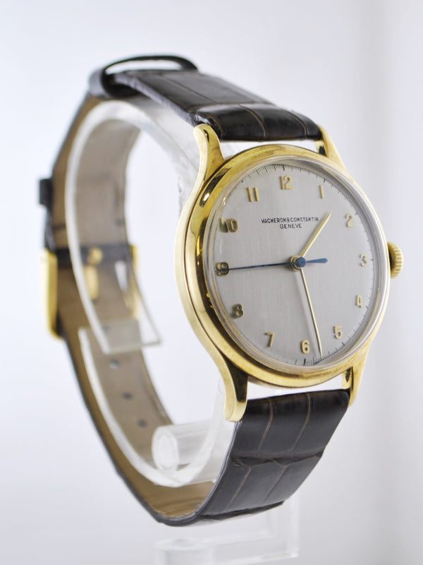 VACHERON CONSTANTIN 1950's Classic Wristwatch in 18K Yellow Gold on Handmade Croco Leather Strap - $35K VALUE