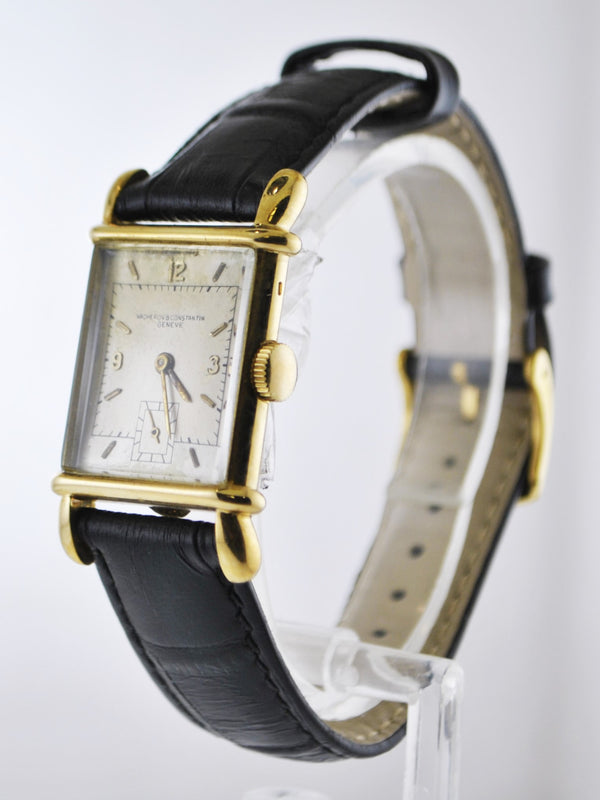 1950's Vacheron Constantin Men's Watch 18 Karat Yellow Gold Rectangular Case with Sub-dial - $30K VALUE