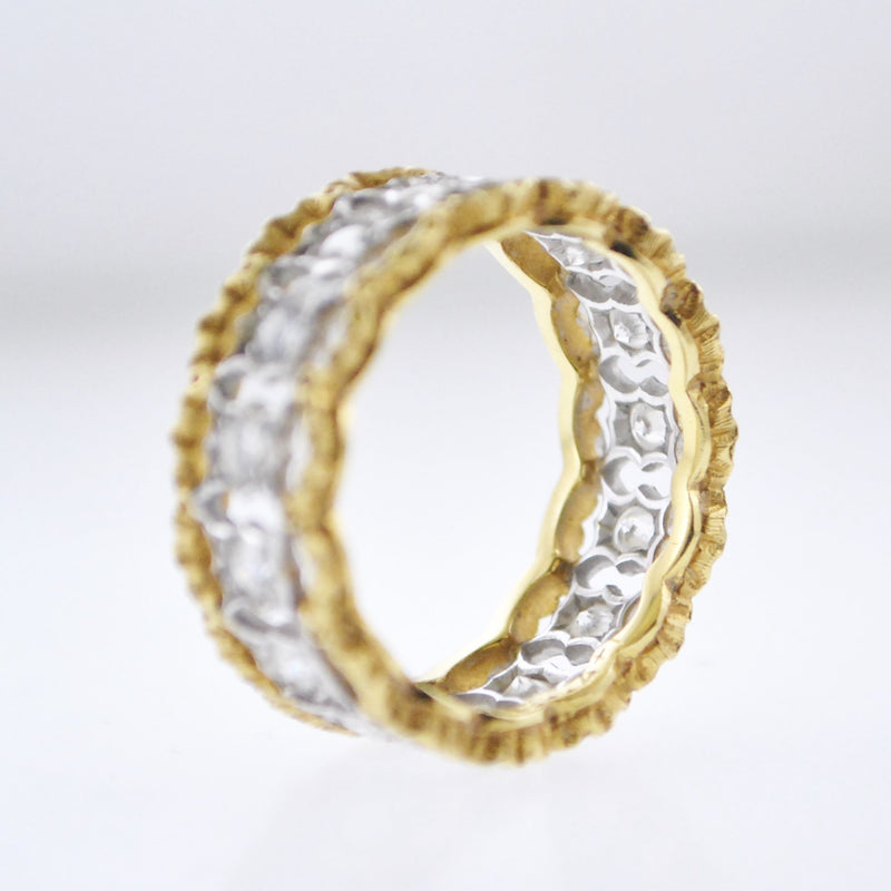 Contemporary Buccellati Handmade Rango Style Diamond Ring in 18K Gold - $20K VALUE