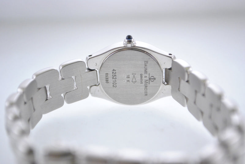 Baume & Mercier Lady's Wristwatch in 18K White Gold with Diamonds & Mother of Pearl Dial - $18K VALUE