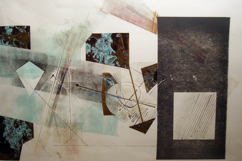 "ROBERT DEVOE ""Intergalactic Electromnemonic Kite"", Monoprint, c. 1985 - Value: $10K*"