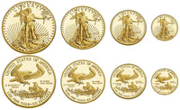 American Eagle Uncirculated Gold Coins Complete Set ✓
