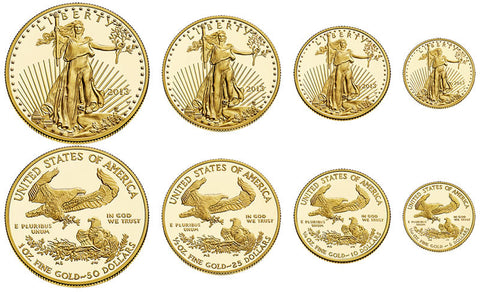 American Eagle Uncirculated Gold Coins Complete Set
