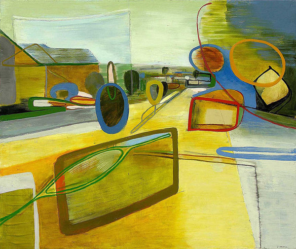Jean Arnold, 'East Prater: Convergence,' Urban Motion Series, Oil on Canvas, Framed, 2005 - Appraisal Value: $18K