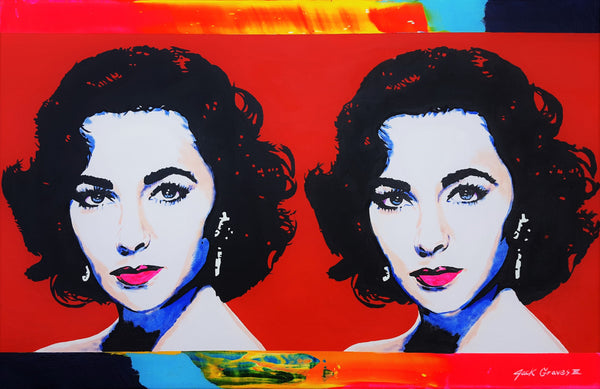 Jack Graves III, 'Elizabeth Taylor x2 Icon', Icon Series 2020 - Apr Value: $2K*