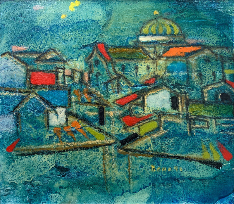 "Lazzaro Donati, ""Firenz"", Original Oil on Panel, 1965 - $20K Value*"
