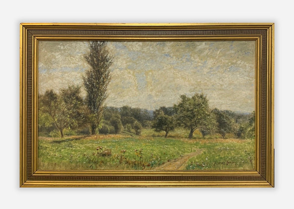 Albert Insley, Landscape Original Oil on Canvas, c. 1870 - $20K Value*