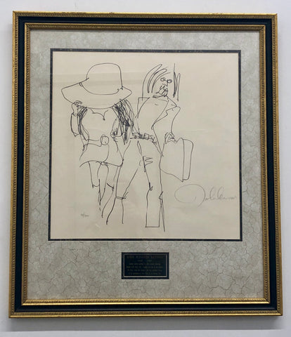 "1970 ""John Lennon with Yoko Ono"" Original Signature by John Lennon - $20K Value"