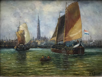 "JAMES CLARK ""Dutch Harbor"", c. 1840s - $20K Appraisal Value*"