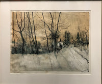 Bernard Gantner, 'Snowy Woods', Limited Edition Print (273 of 375) - APR $3K Value *