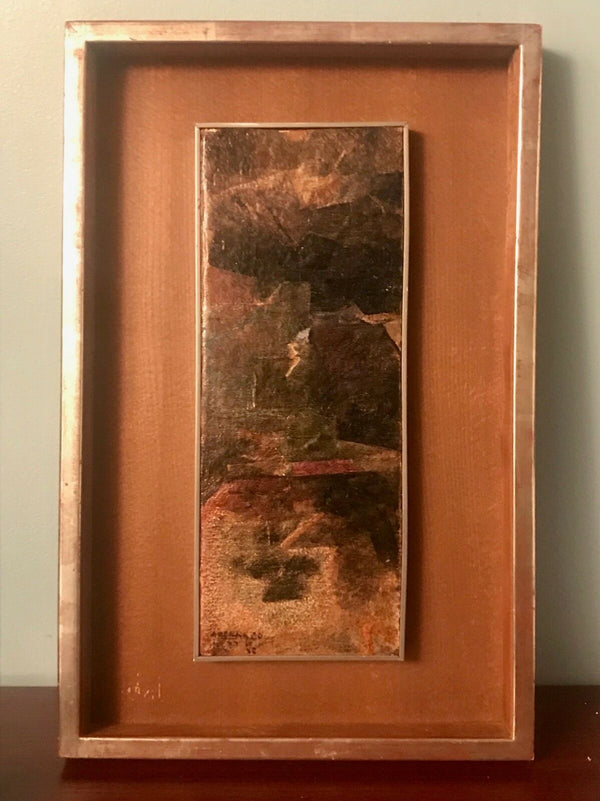 AVIGDOR ARIKHA, 'Composition', 1960, Original Oil on Panel, COA/ Appraisal Value: $10K*