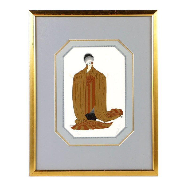Erté, 'King's Favorite,' Embossed Limited Edition Print: 26 of 300, 1979 - Art Deco Revival - Appraisal Value: $15K*