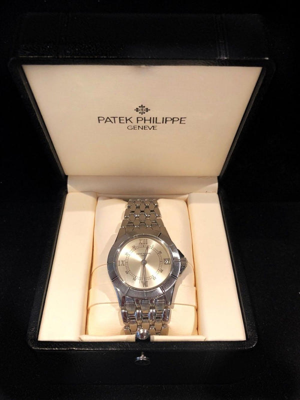 PATEK PHILIPPE Neptune 5080 Stainless Steel Automatic Men's Watch w/ Rare Platinum Dial - $40K Appraisal Value! ✓