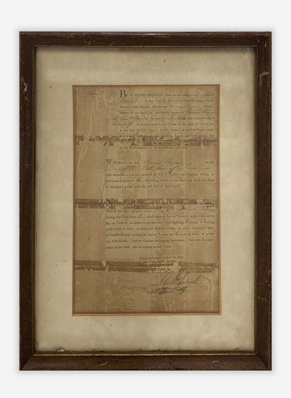 NYC Liquor and Tax License, Antique Legal Document - $10K Value!