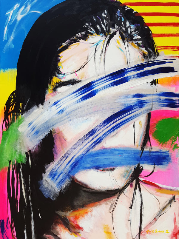 Jack Graves III, 'Hilary Rhoda Icon II (Homage to Julian Schnabel)', Icon Series 2020 - Apr: $5K*
