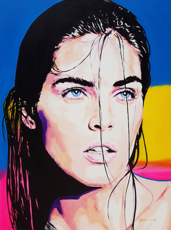 Jack Graves III, 'Hilary Rhoda Icon', Icon Series 2020 - Apr Value: $5K*