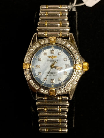 BREITLING Callistino Two-Tone 18K Yellow Gold & Stainless Steel w/ 39 Diamonds! - $13K Appraised Value!