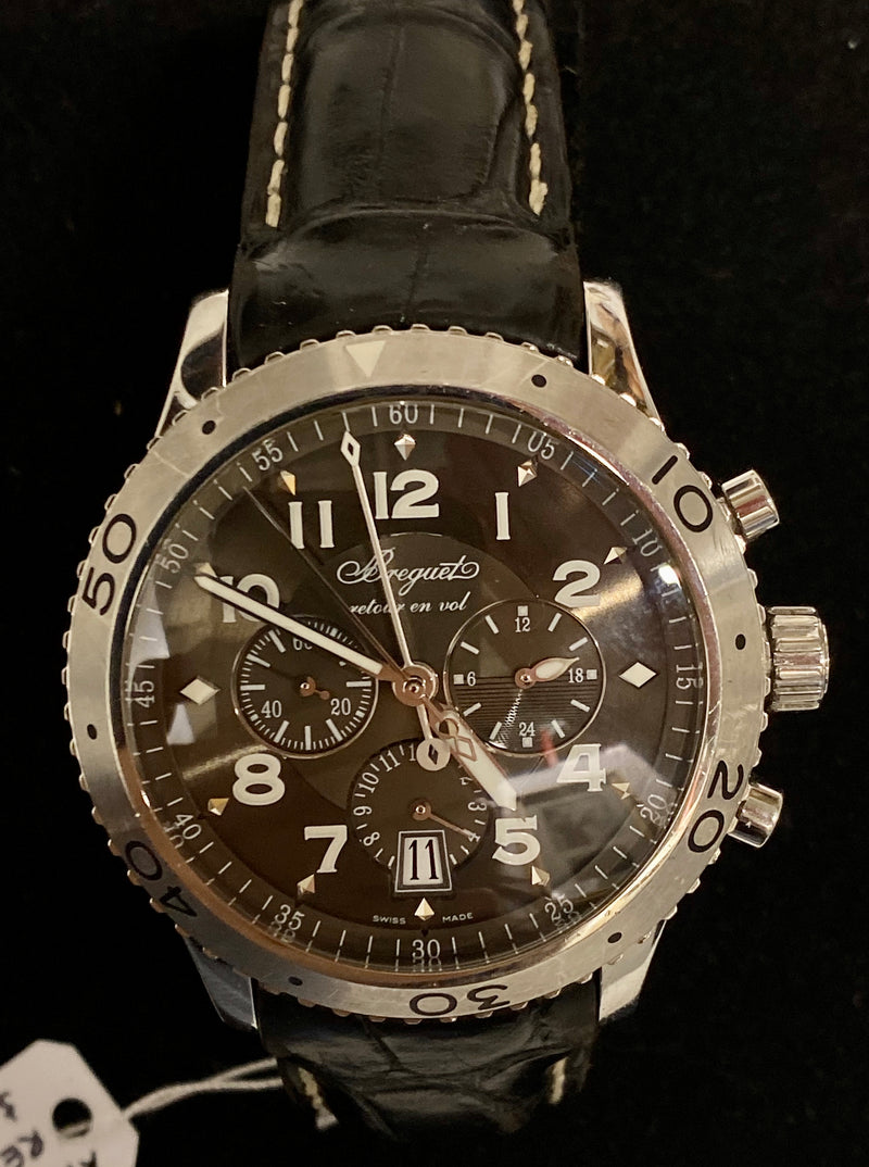 BREGUET Type XXI Stainless Steel Men's Chronograph w/ Date Feature, Ref. #3810 - $20K Appraisal Value! ✓