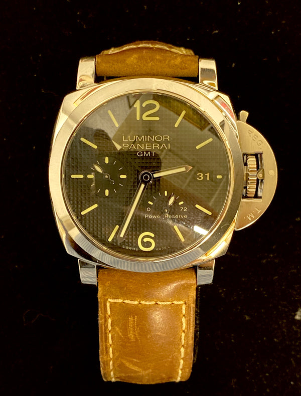 PANERAI Limited Edition 588/1000 Luminor GMT Stainless Steel Men's Watch, Ref. # PAM 537 - $15K Appraisal Value! ✓
