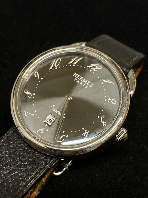 HERMES TGM Arceau Men's Automatic Stainless Steel Watch, Ref. #AR4810 - $6K Appraisal Value! ✓