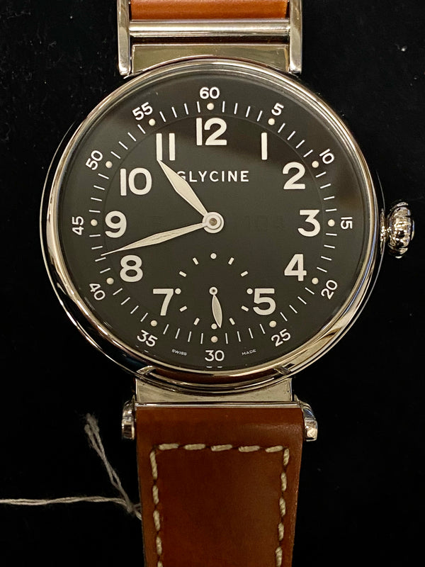 GLYCINE Rare F104 Large Face Stainless Steel Automatic Men's Watch - $4K Appraisal Value! ✓