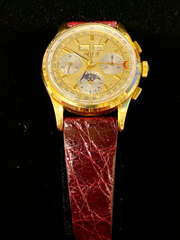 TAG HEUER Limited Edition Golden Hours 18K Yellow Gold Triple Calendar Watch - $20K Appraisal Value! ✓