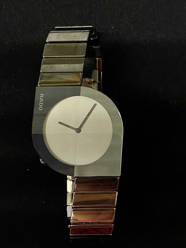 RADO Diastar Asymmetrical Hi-Tech Art Deco Unisex Ceramic Watch - $6.5K Appraisal Value! ✓