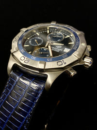 TAG HEUER Aquaracer Stainless Steel Automatic Chronograph, Ref. #CAF2112 - $8K Appraisal Value! ✓