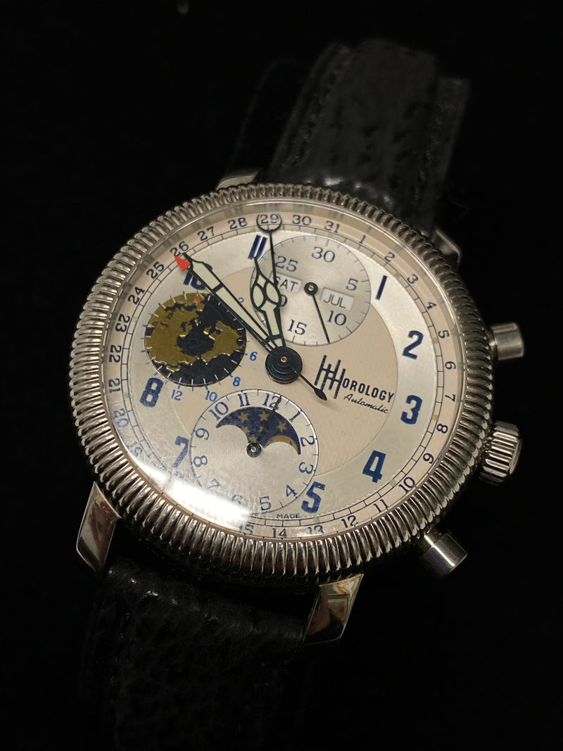 HOROLOGY Calendar Chronograph Stainless Steel Men's Automatic Watch - $10K Appraisal Value! ✓