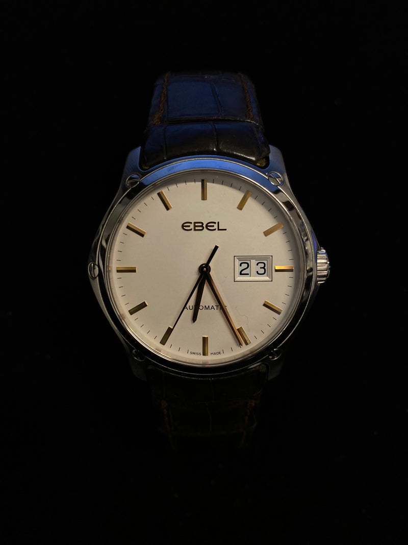 EBEL Classic Hexagon Automatic Stainless Steel Watch w/ Date Feature - $7K Appraisal Value! ✓