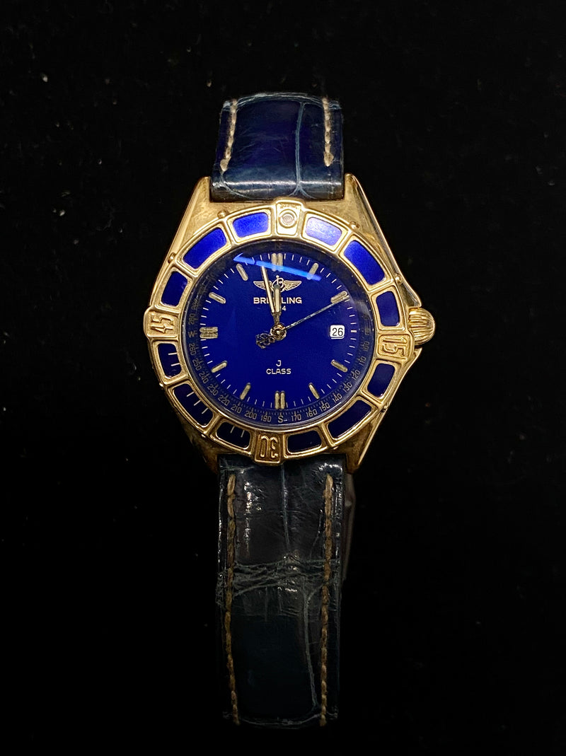 BREITLING  Incredible J-Class 18K Yellow Gold Ladies Watch - $25K Appraisal Value! ✓