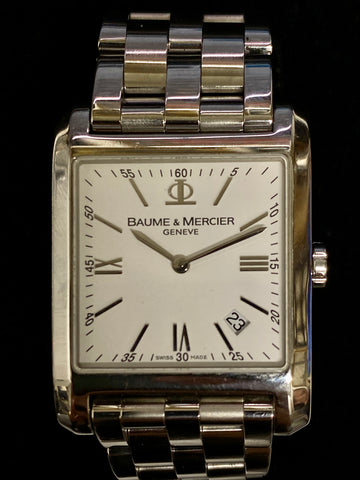 BAUME & MERCIER Hampton Classic Men's Stainless Steel Watch - $6K Appraisal Value!