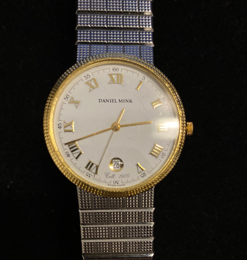 DANIEL MINK Two-Tone 18K Yellow Gold & Stainless Steel Custom Engraved Ladies Wristwatch - $ 8K Appraisal Value! ✓