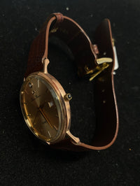 LUCIEN PICCARD Amazing 14K Rose Gold Unisex Watch w/ Diamond Hour Marker - $6K Appraisal Value! ✓