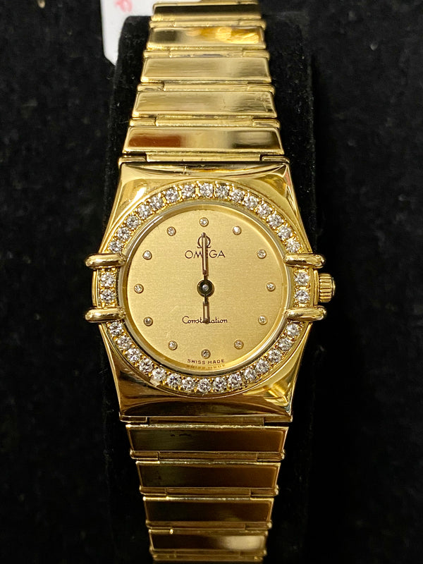 OMEGA Constellation 18K YG Women's Vintage Watch w/46 Diamonds-$25K VALUE w/CoA!