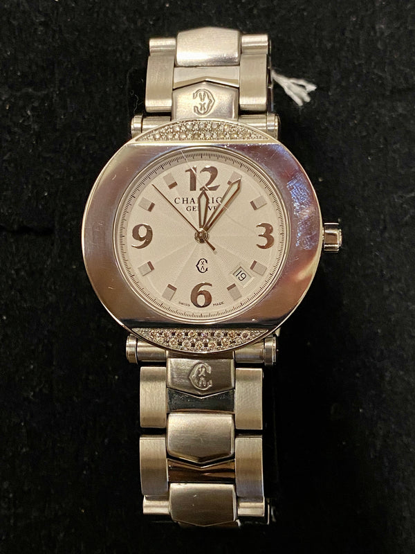 CHARRIOL Columbus Stainless Steel Women's Watch w/ 30 Diamonds! - $8K Appraisal Value!