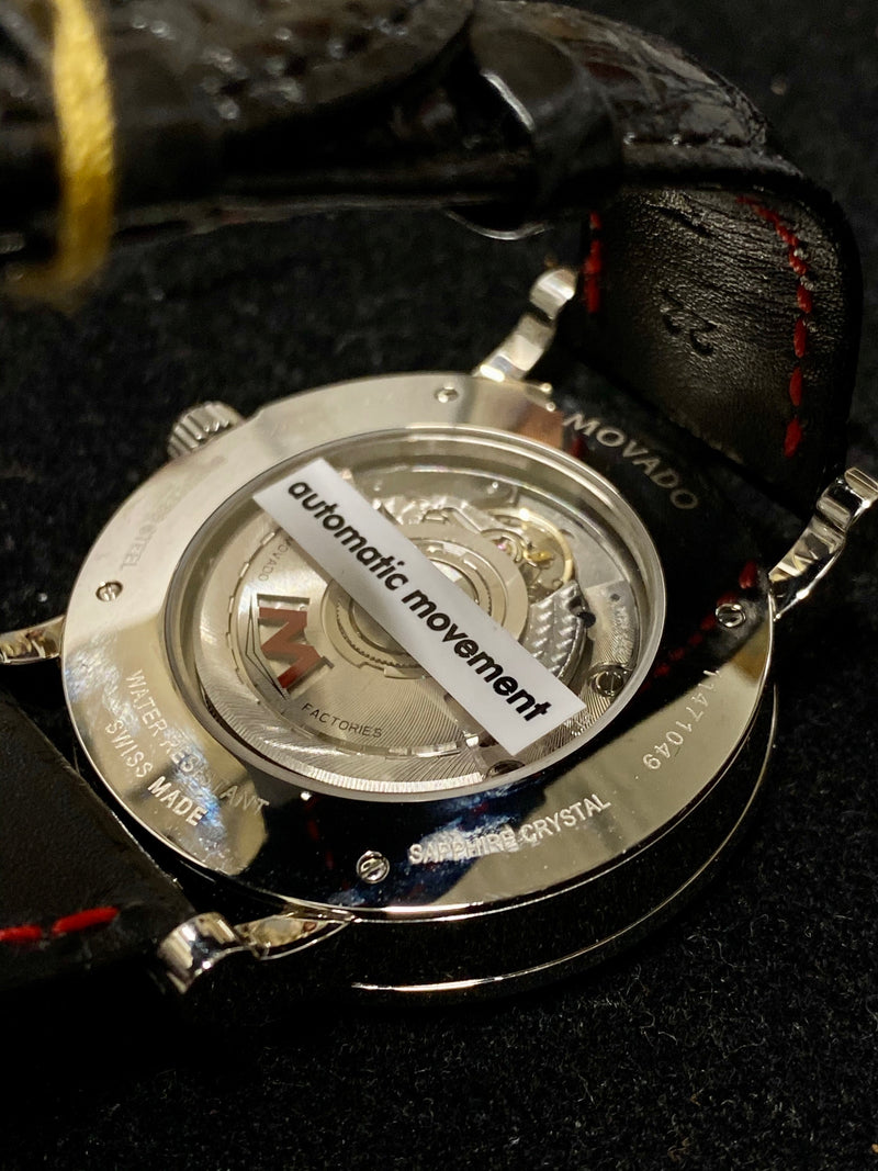MOVADO Limited Edition Red Label Planisphere Watch w/ Rare Black Planet Dial - $6K Appraisal Value! ✓