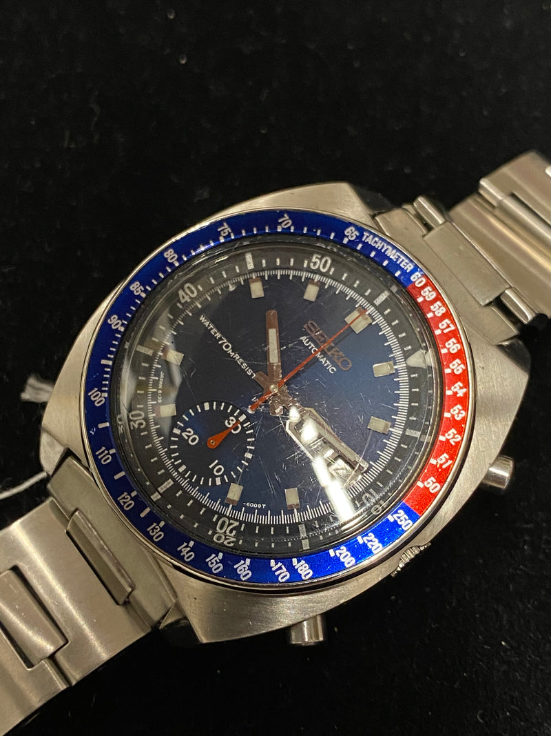 SEIKO Pepsi Chronograph Stainless Steel Men's Automatic Watch - $7K Appraisal Value! ✓