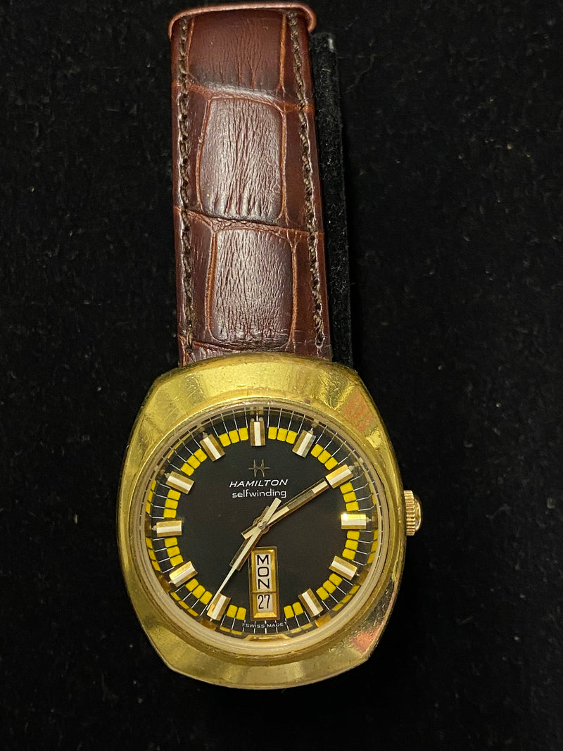 HAMILTON Incredibly Rare Gold Tone Automatic Men's Watch- $7K Appraisal Value! ✓