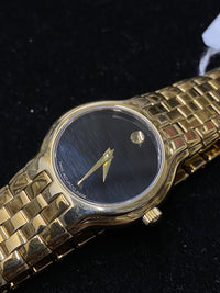 MOVADO Museum Classic Yellow Gold-tone Ladies Wristwatch - $2.5K Appraisal Value! ✓