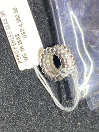 VAN CLEEF & ARPELS Perlee Diamonds Pendant 18K White Gold w/ 17 Diamonds -$4.4K Appraisal Value!