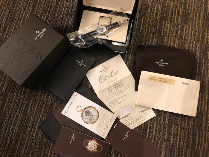 PATEK PHILIPPE #5130P World Time Platinum NIB w/ Complete Set - $100K VALUE!