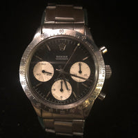 ROLEX Chronograph Daytona #6262 Charcoal Dial & White Sub Dials in SS - $150K VALUE