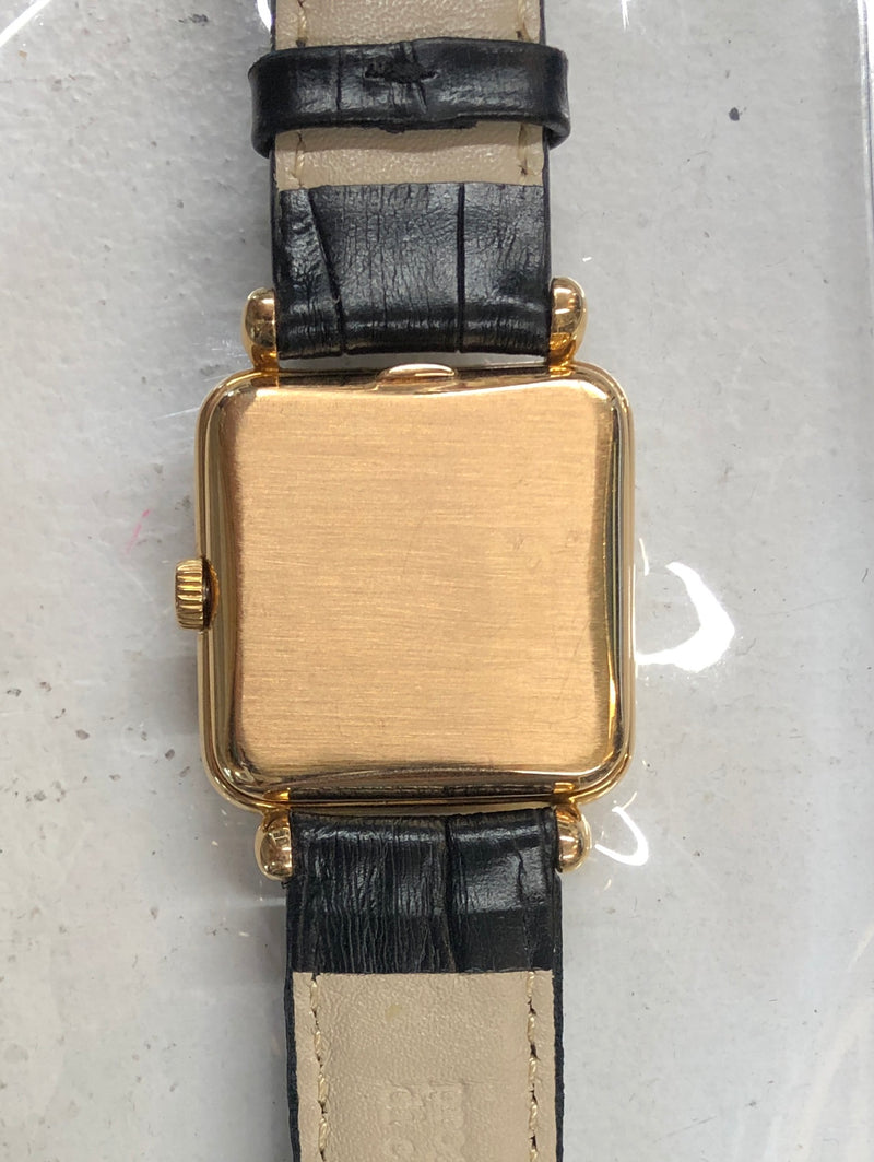 Patek Philippe Rectangular Cushion 18K Yellow Gold 1950s Mechanical Men's Watch Ref#2492 $50K Value w/ CoA