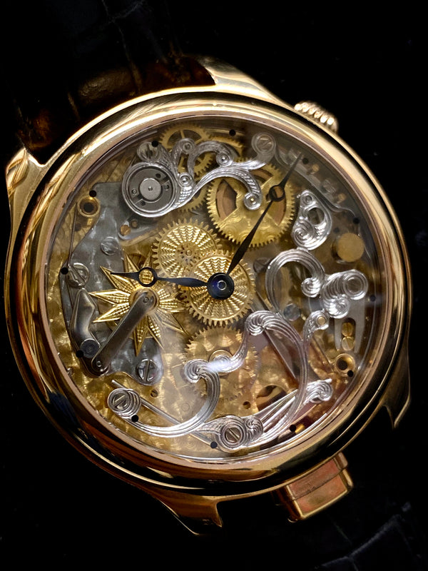 NIVREL Repetition Skeleton Automatic Men's Watch in 18K Rose Gold - Incredible - $50K Appraisal Value! ✓