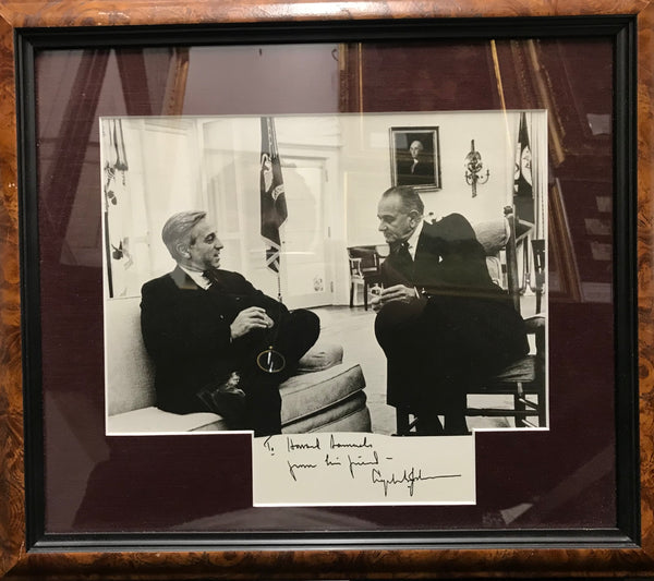 President Lyndon B. Johnson Photograph with Howard Samuels, Inscribed to Samuels - 1968 - $6K Appraisal Value*