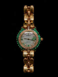 BERTOLUCCI Brand New Lady 18K YG, Diamond, & Emerald  Ladies Wristwatch - $200K Appraisal Value! ✓